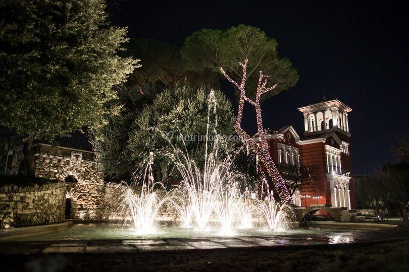 Villa Rachele + fontana