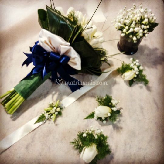 Bouquet boutoniere bracciali
