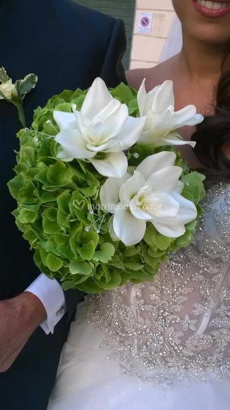Curcuma Bouquet Sposa.Bouquet Curcuma E Ortensie Di Fioridee Foto 1