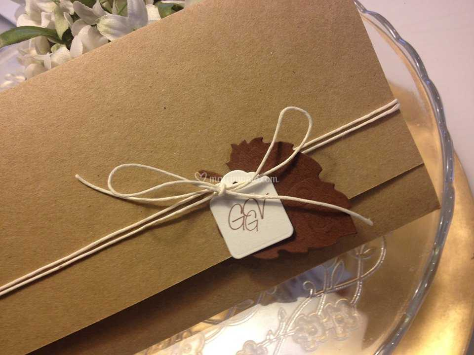 Partecipazioni Matrimonio Carta Kraft.Partecipazione Carta Kraft Di Coccole Di Carta Foto 80