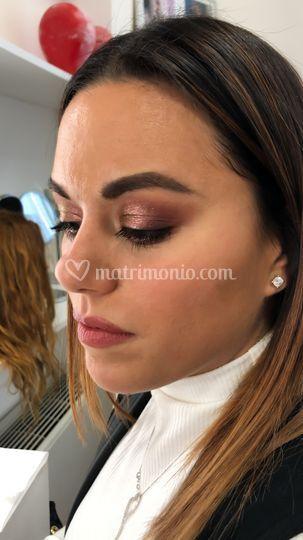 Make up sposa borgogna