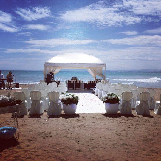 Matrimonio Spiaggia Rito Civile : Vistamare ristorante