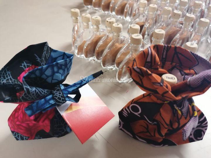 I sacchettini in tessuto wax