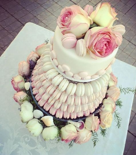 Wedding cake - macaron