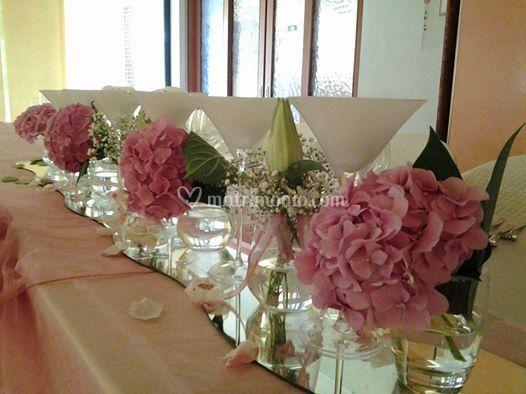 Dettagli tavolo sposi