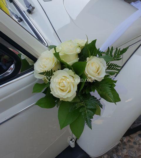 Addobbo specchietti auto Sposi