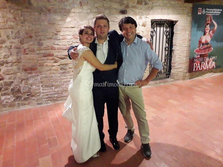 Foto finale con gli sposi