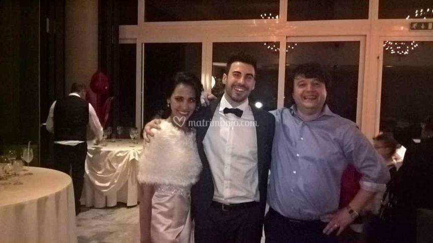 La foto finale con gli sposi!