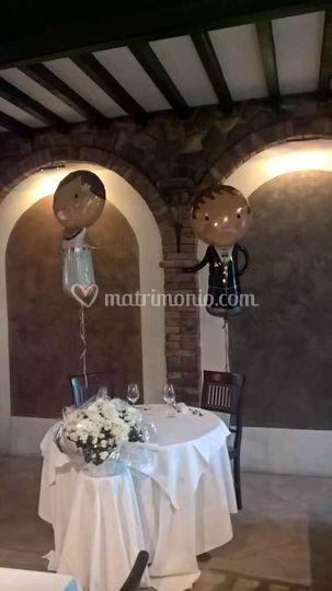 Il tavolo degli sposi!