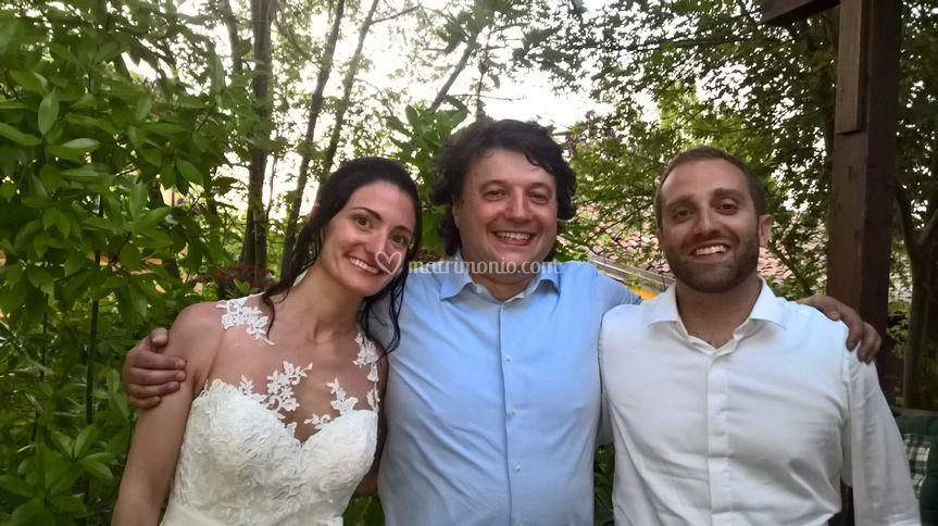 Foto finale con gli sposi!
