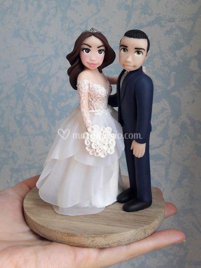 Cake Topper sposi fimo