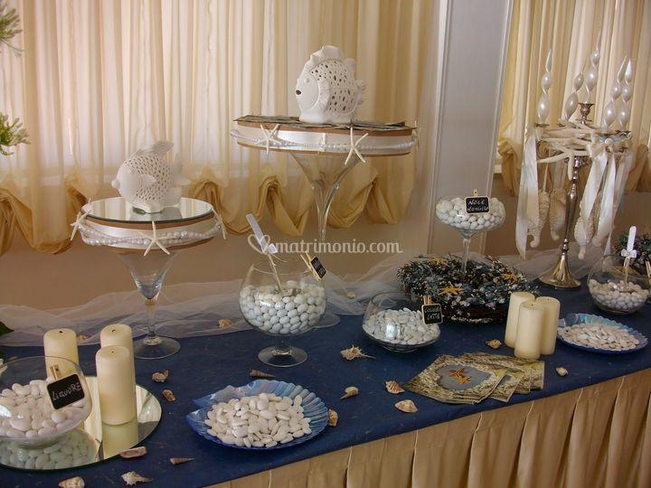 Estremamente Confettata tema marino di Agenzia Wedding Planner di Giovanna  IN62