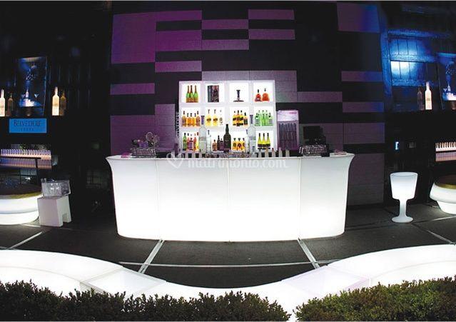 Bancone bar luminoso