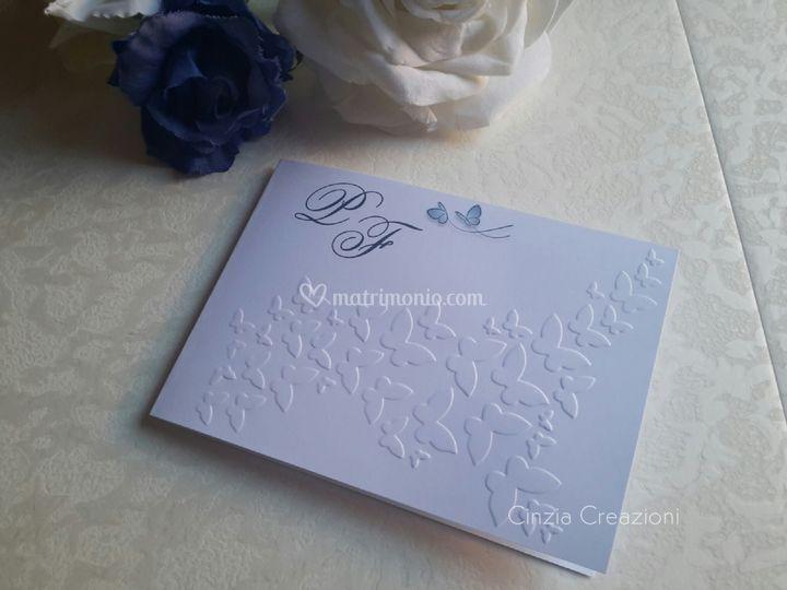 Invito nozze farfalline