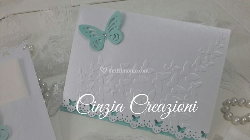 Invito Nozze Farfalla Tiffany