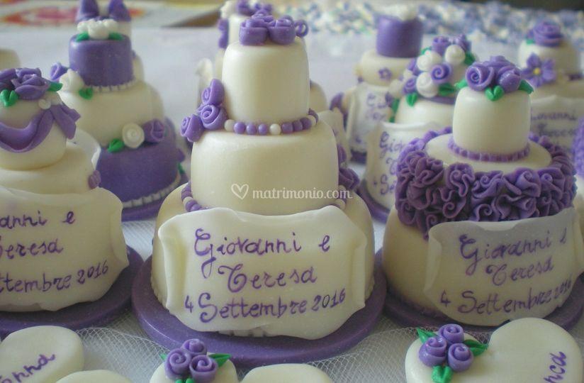 Minicake con pergamena