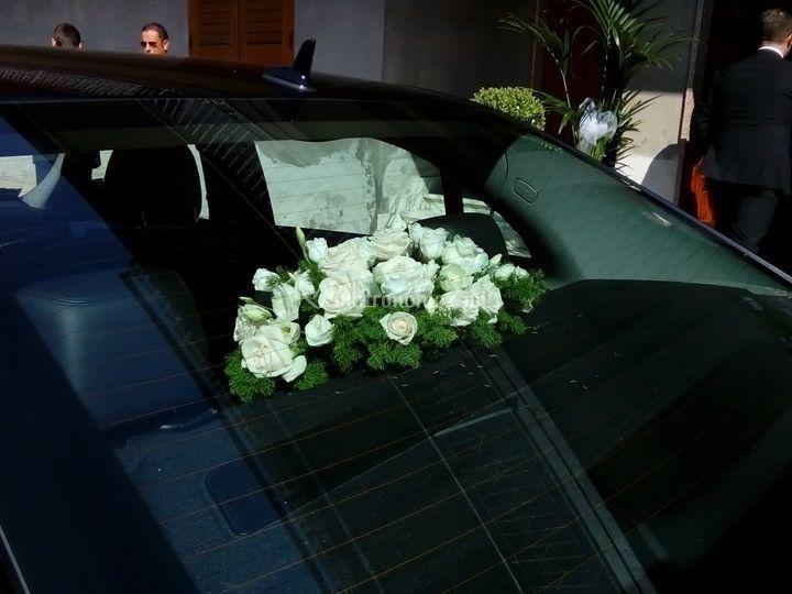 Addobbo auto sposa