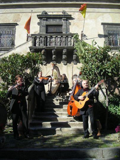 Quartetto Amarcord e arpa