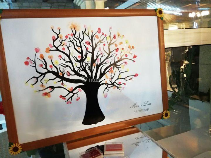 Guestbook albero da timbrare