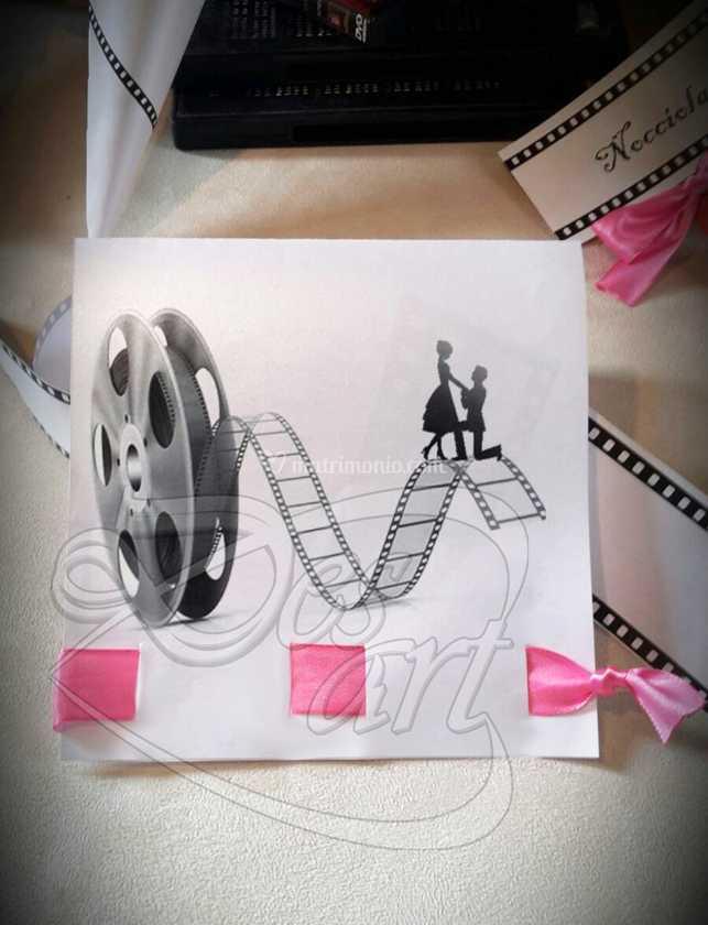 Partecipazioni Matrimonio Tema Cinema.Partecipazione Tema Cinema Di Desart Eventi Foto 8