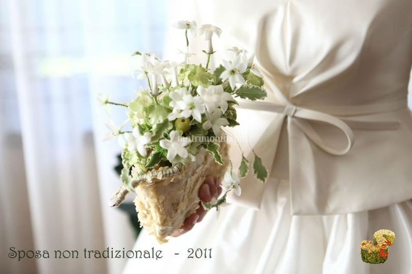 Bouquet sposa non tradizionale