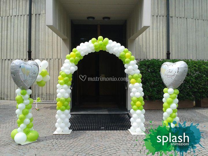 Arco e colonne di palloncini