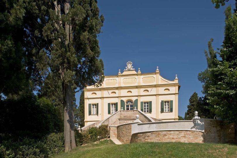 La Villa vista dal cortile