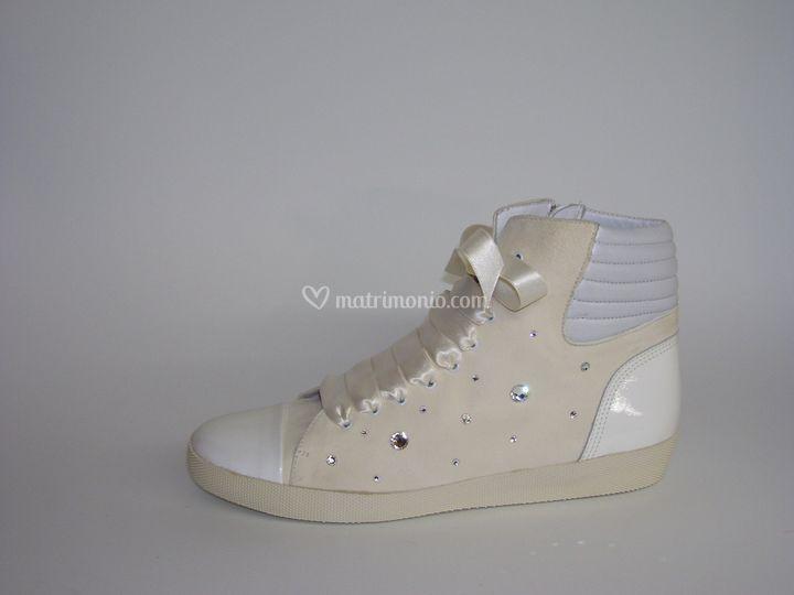 Sneakers da sposa Swarovski