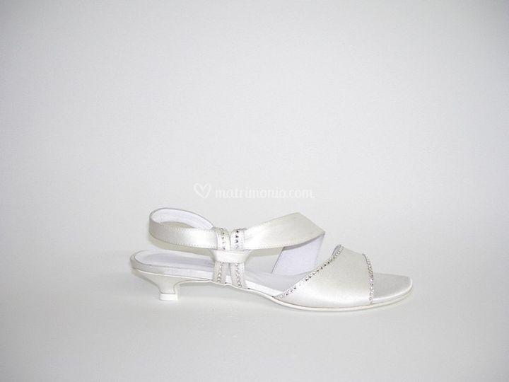 Sandali da sposa bassi