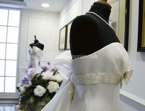 Dettaglio del vestito da sposa