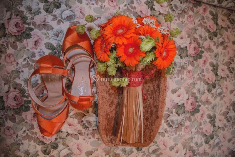 Scarpe sposa arancio