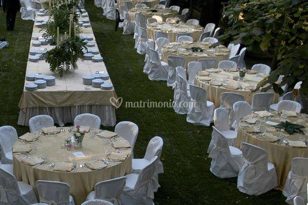 Nettuno banqueting catering for Allestimento giardino