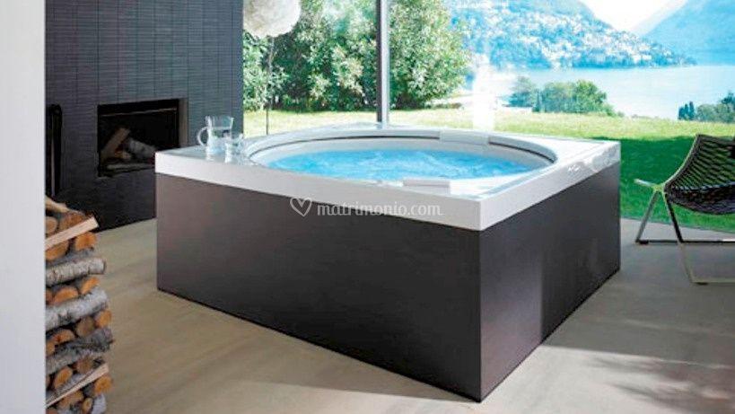 Saune, mini piscine