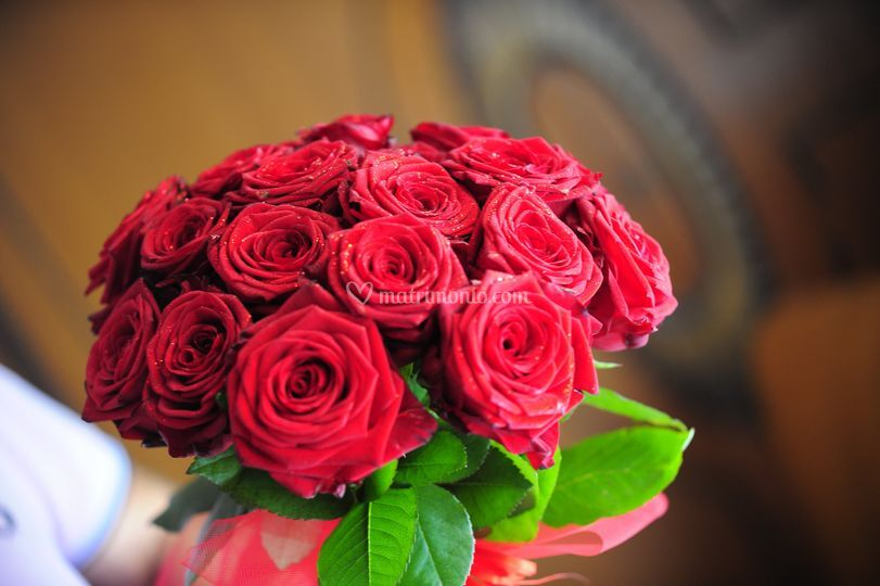 Mazzo di rose per la sposa