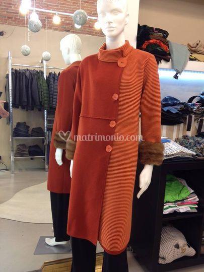 Cappotto in lana e visone