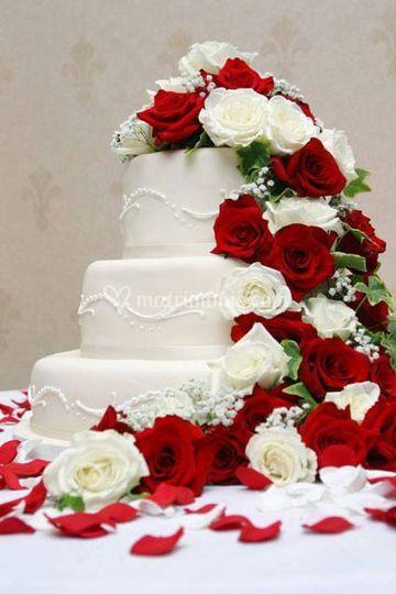 Cake nei colori del matrimonio
