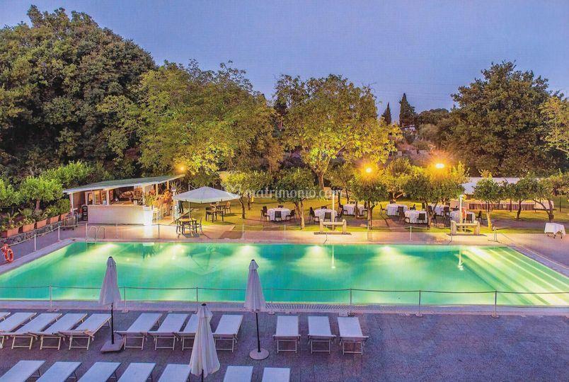 Agrumeto E Piscina Di Grand Hotel Villa Itria Foto 17