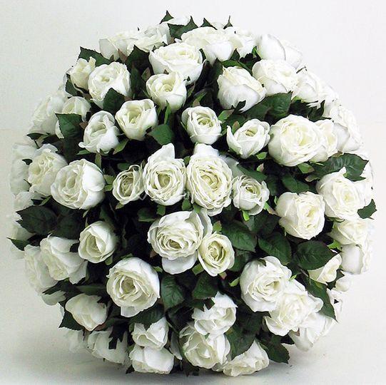 Sfera Rose Bianche