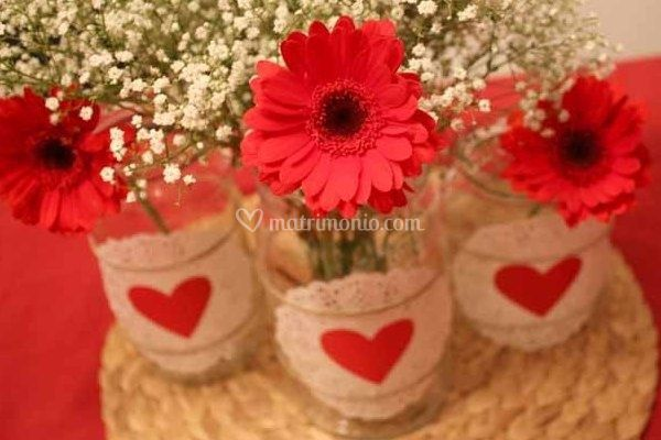 Centrotavola per matrimonio a san valentino for Idee san valentino fai da te