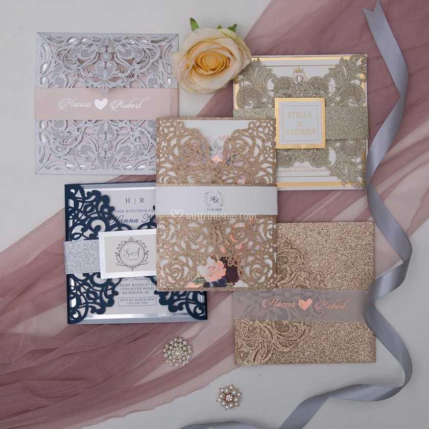 Partecipazioni Matrimonio Glitter.Partecipazioni Glitter Di Come D Incanto Foto 5