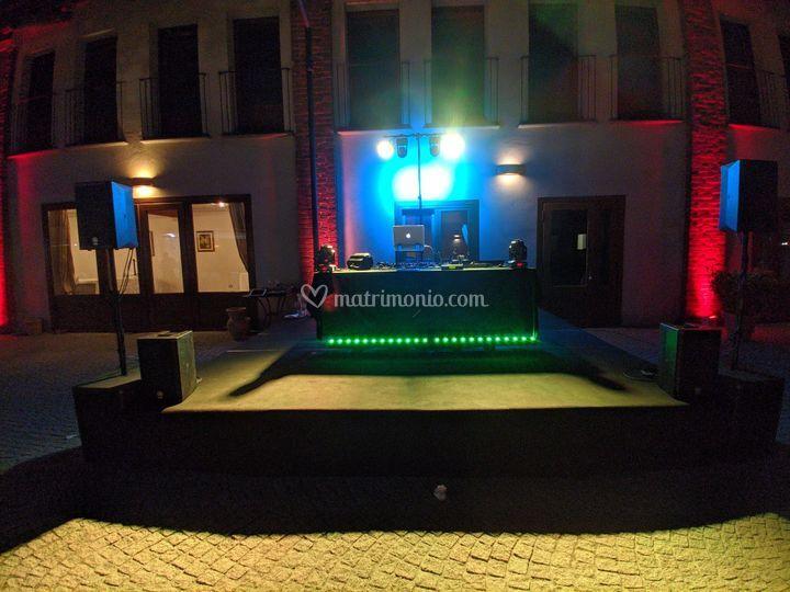 Setup completo con palco