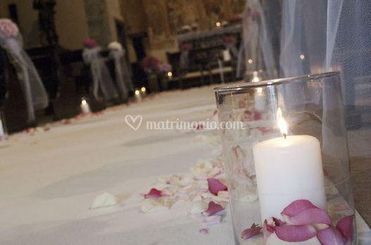 Decorazione con le candele
