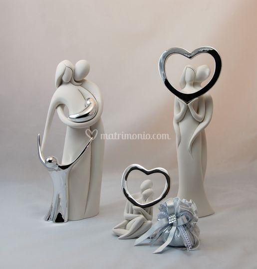 Statue famiglia e coppie