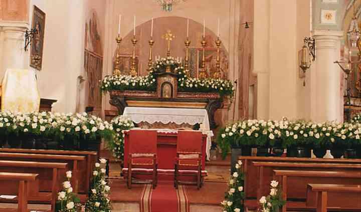 Decorazione floreale chiesa