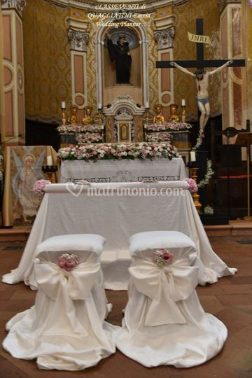 Particolare delle sedute sposi