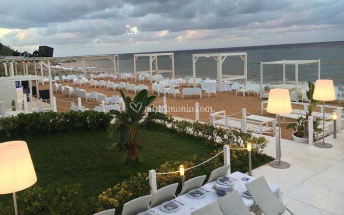 Matrimonio Spiaggia Palermo : Ricevimento vista mare di il moro foto 4