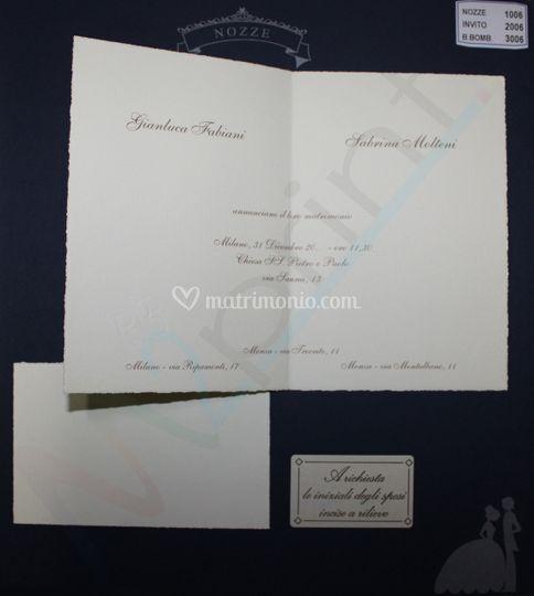 Partecipazioni Matrimonio Kartos.M2print