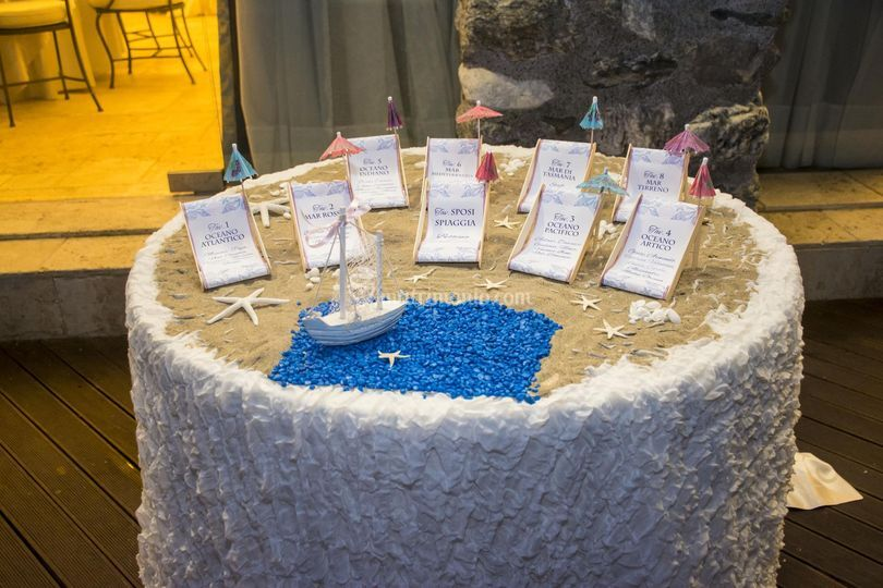 Tableau Matrimonio Spiaggia : Roxana wedding planner
