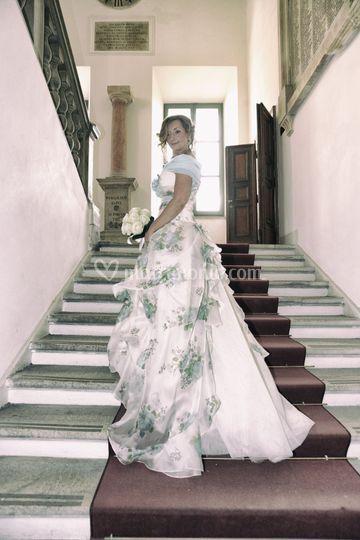Sposa sulla scalinata