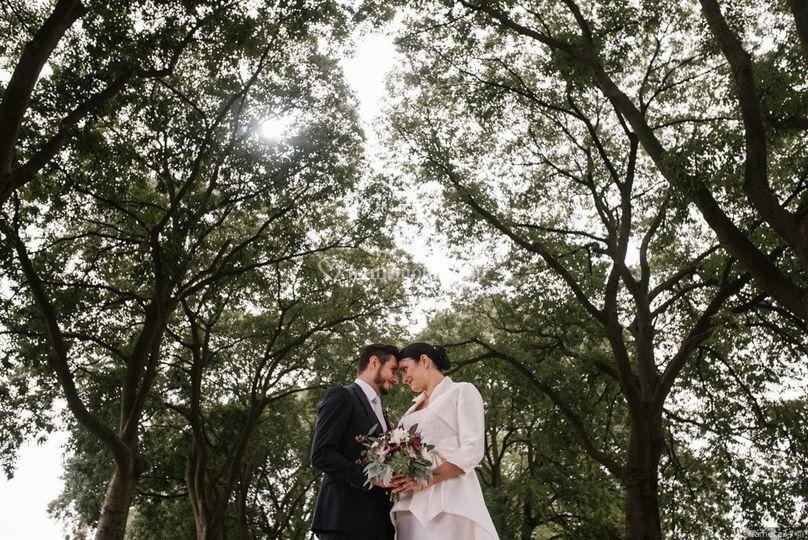 Gli sposi e la natura